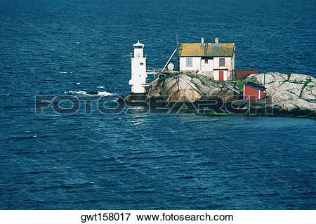 Picture of Lighthouse on the coast, Gothenburg, Sweden gwt158017.