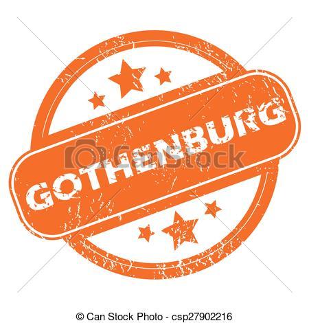 Vector Clip Art of Gothenburg rubber stamp.