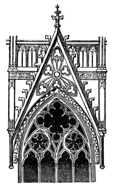 Gothic architecture clipart #17