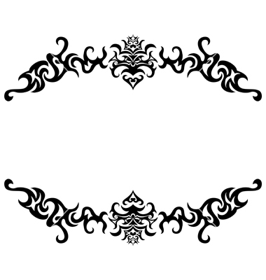 20 Gothic Vector Frame Images.