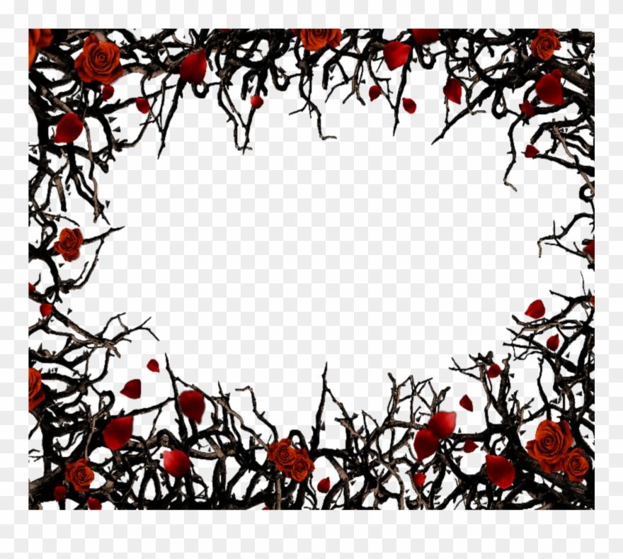 Mq Red Black Roses Gothic Frame Frames Border Borders.