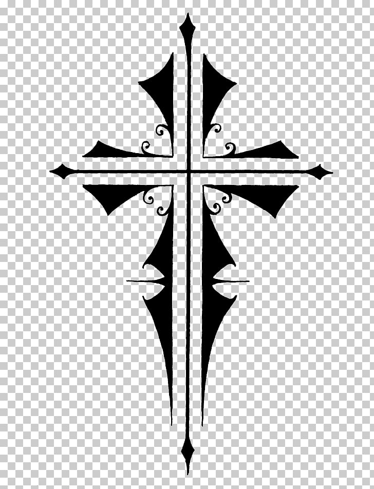 Tattoo Christian cross , gothic Cross PNG clipart.