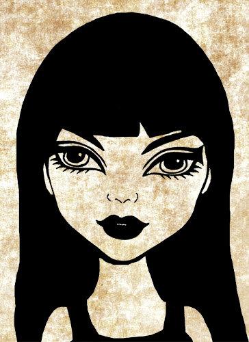 Goth clipart art.