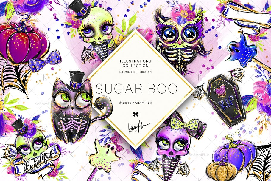 Halloween Gothic Clipart ~ Illustrations ~ Creative Market.