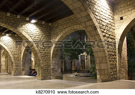 Stock Photography of Gothic Quarter of Barcelona. k8270910.