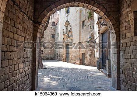 Stock Photograph of Barcelona Gothic quarter k15064369.