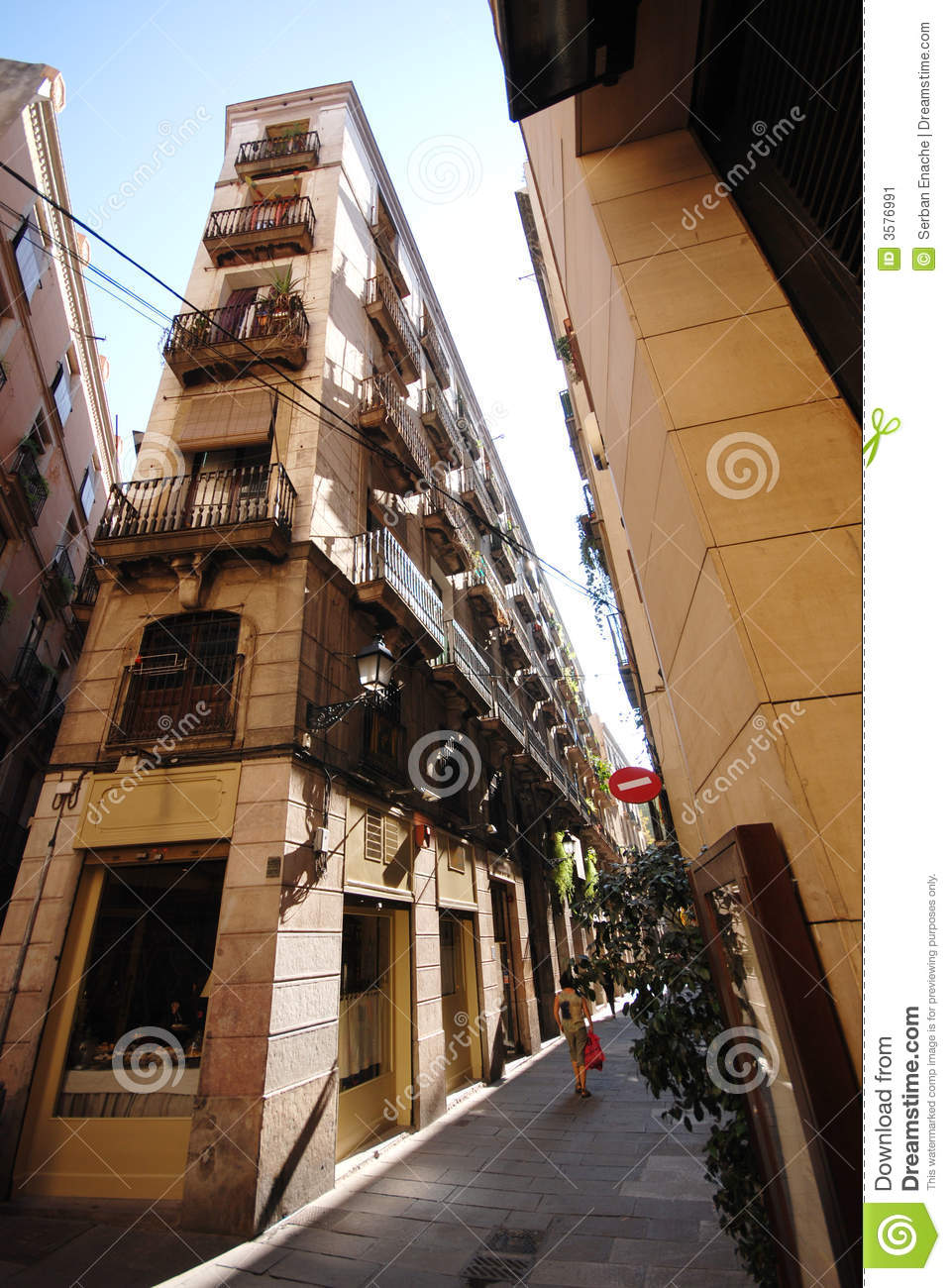 Gothic Quarter Of Barcelona Stock Image.