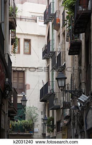 Stock Photography of Gothic Quarter k2031240.