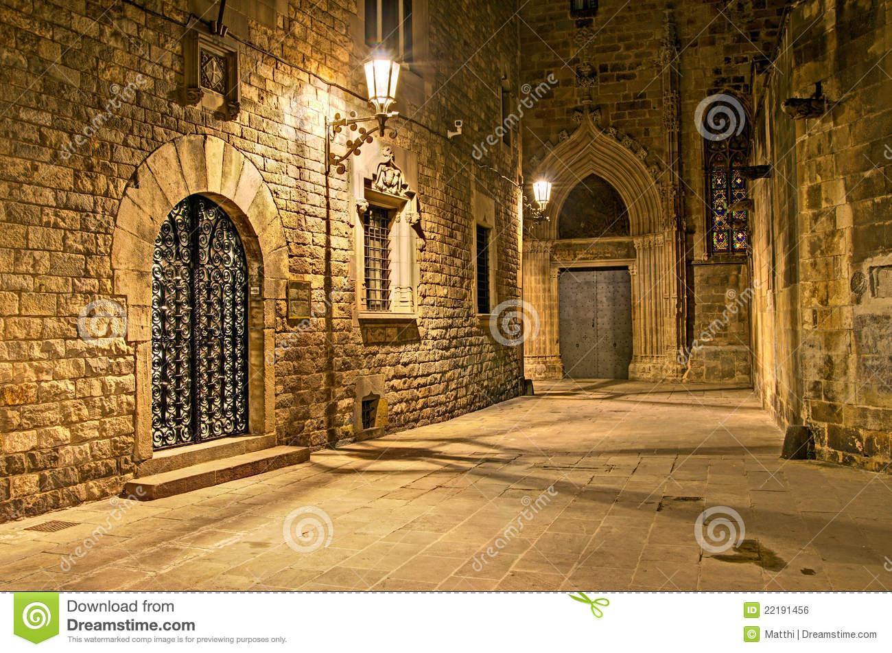 Gothic Quarter, Barcelona, Spain Royalty Free Stock Image.