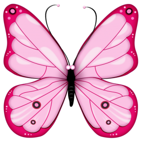 Dark Blue Single Butterfly Clipart.