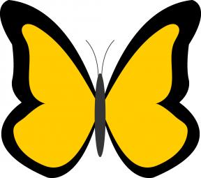 Dark Blue Single Butterfly Clipart.