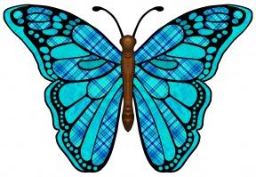 Cute Purple Butterfly Clipart.