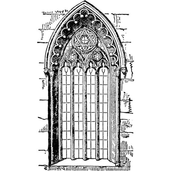 Gothic Style Window Clipart found on Polyvore featuring.