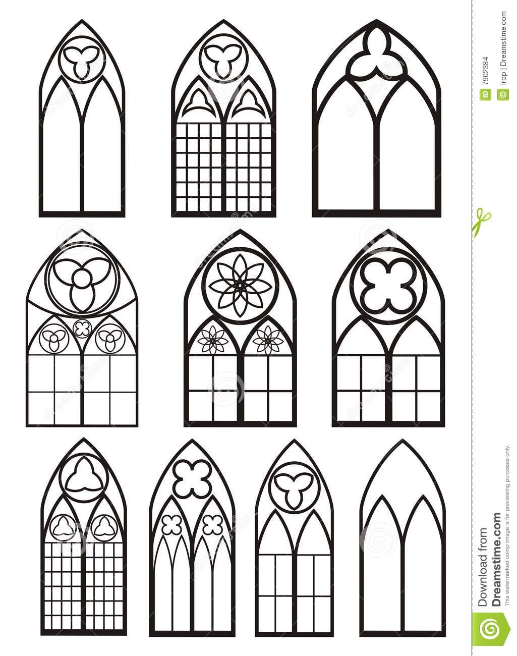 Gothic Window Clipart.