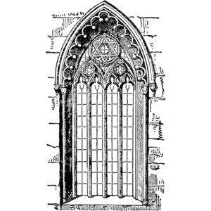 Gothic Style Window Clipart.