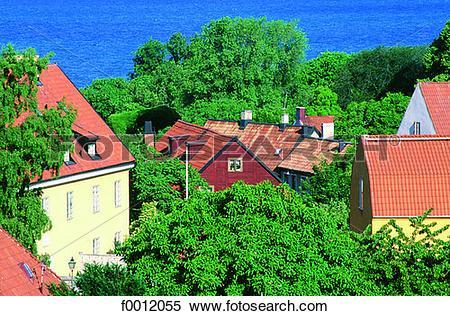 Stock Image of Sweden, Gotland, Visby f0012055.