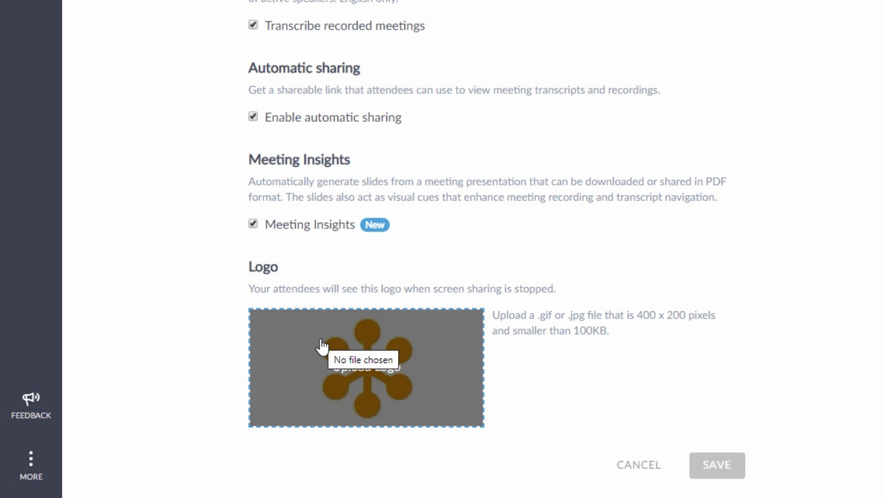 GoToMeeting Adding a Company Logo.