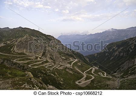 Stock Photography of Saint Gotthard Pass.