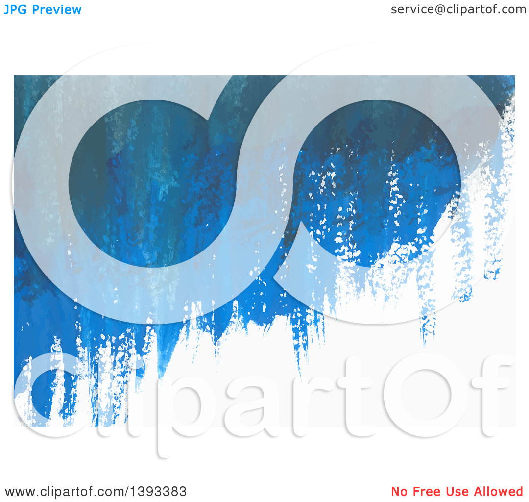 Clipart of a Blue Gouache Paint Background.