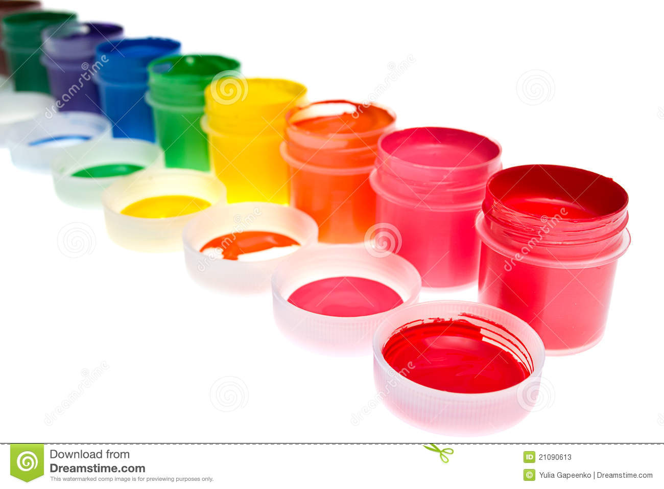 Gouache Paint Isolated Stock Photos.