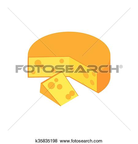 Clip Art of Traditional Dutch Gouda cheese icon k35835198.
