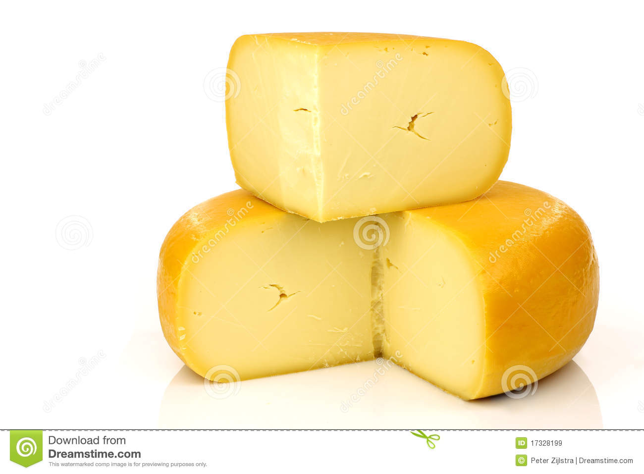 Dutch Gouda Cheese Stock Image.