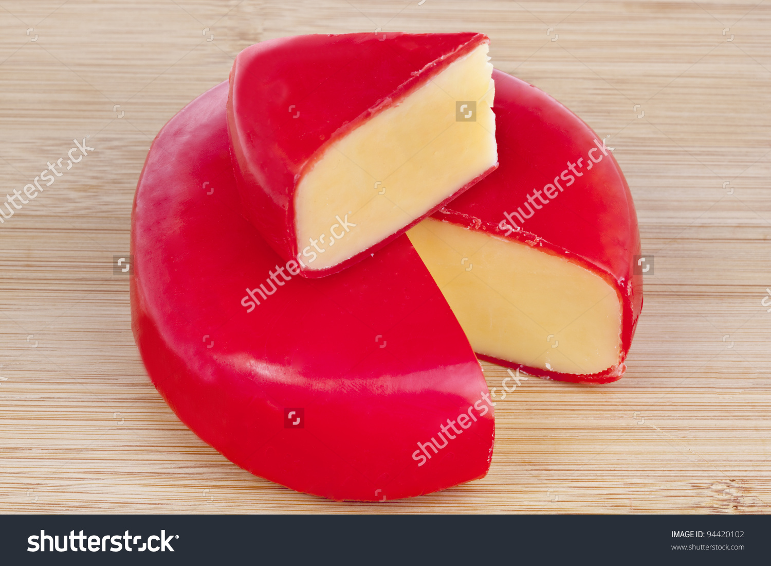 Circular Wheel Gouda Cheese Wedge Cut Stock Photo 94420102.
