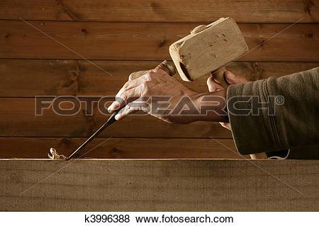 Pictures of gouge wood chisel carpenter tool hammer hand k3996388.