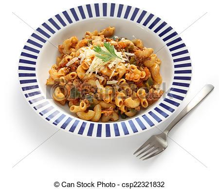 Stock Photos of american chop suey, pasta dish.