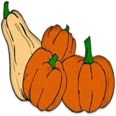 Cute Fall Gourd Clipart.