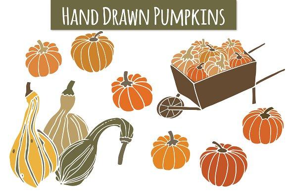Pumpkins & Gourds Clip Art ~ Objects on Creative Market.