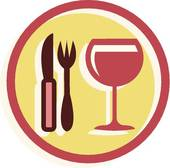 Gourmet food Clipart and Stock.