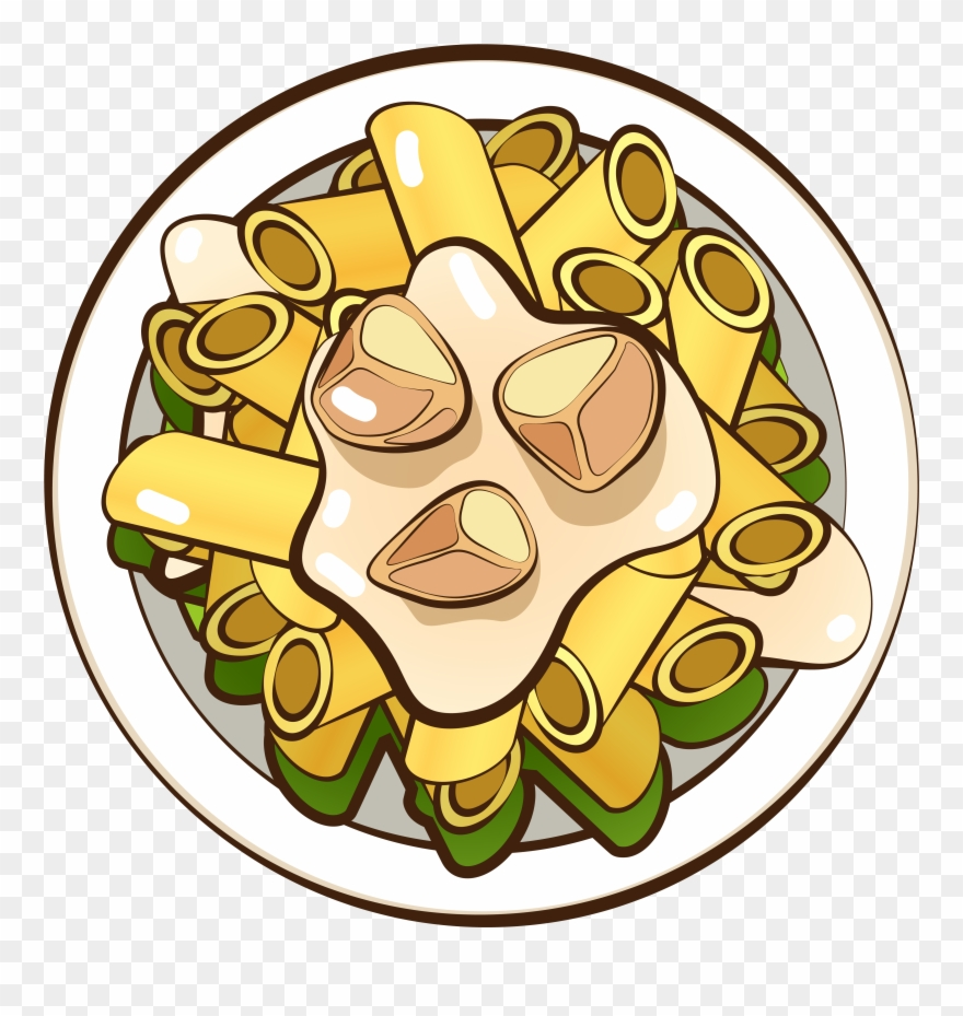 Macaroni Gourmet Food Hand Drawn Png And Vector Image.