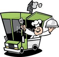 Gourmet Food Truck stock vectors.