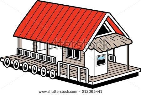 House Boat Clip Art.