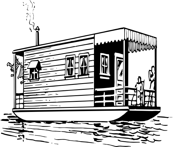 Houseboat Clip Art at Clker.com.