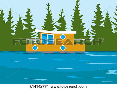 Houseboat Clipart Illustrations. 123 houseboat clip art vector EPS.