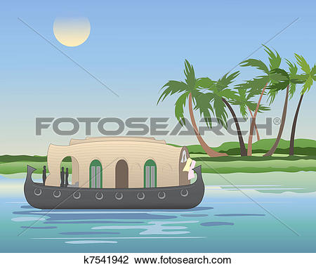 Houseboat Clipart Illustrations. 123 houseboat clip art vector EPS.
