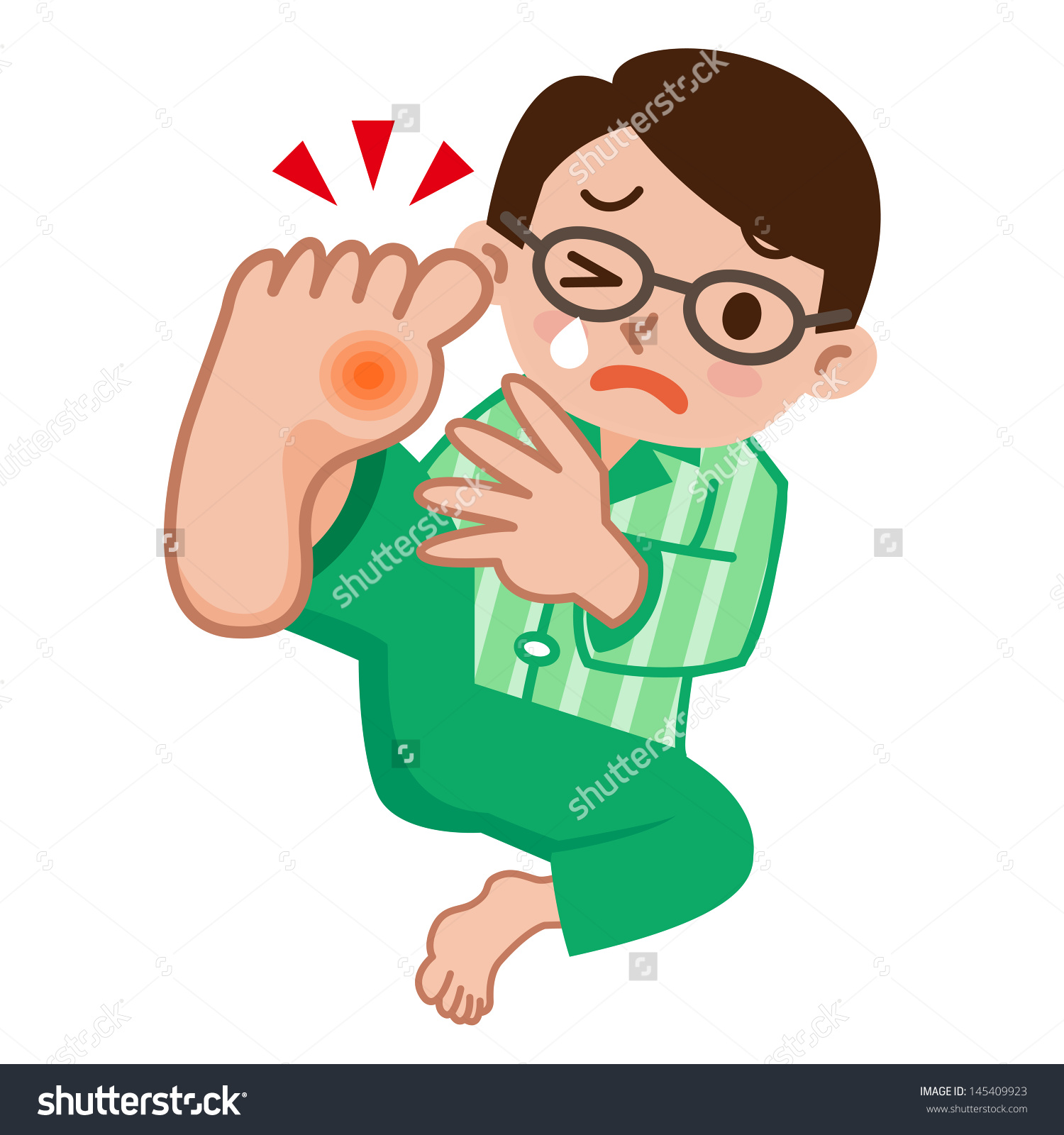The Gout in Toe Clip Art.