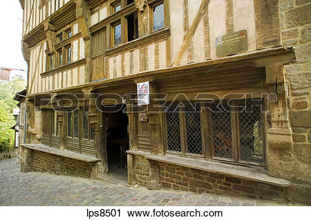 Stock Photography of maison du gouverneur mansion 15th century.