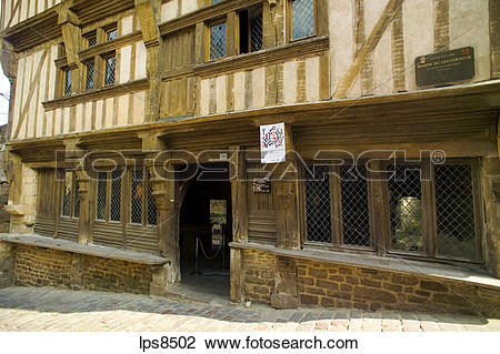 Stock Photo of maison du gouverneur mansion 15th century dinan.