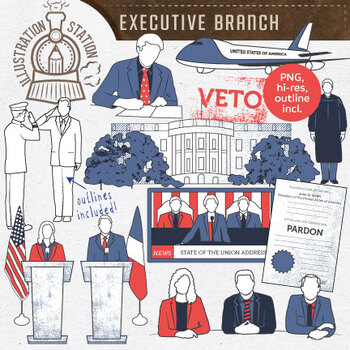 Executive Branch of Government Clip Art by Illustration.