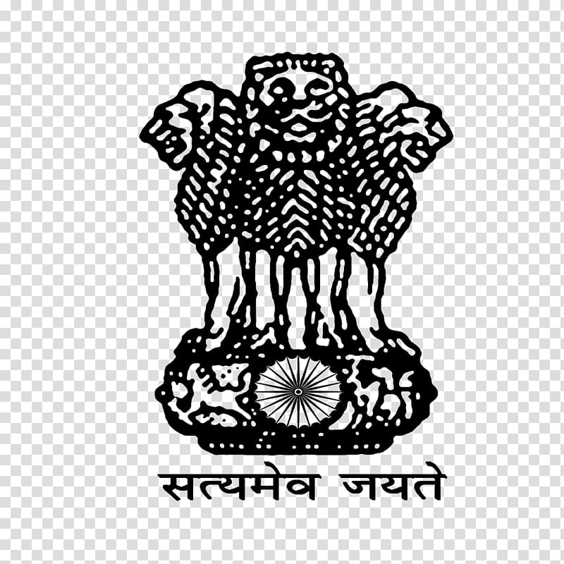 Black lion logo, Government of India West Bengal Ministry of.