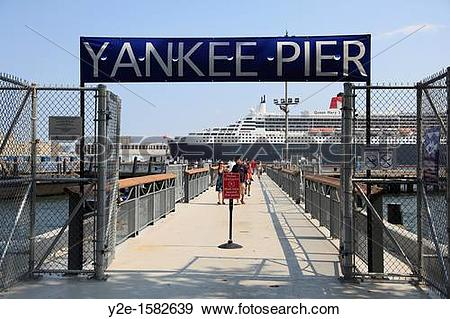 Stock Photograph of Yankee Pier, Governors Island, park, national.