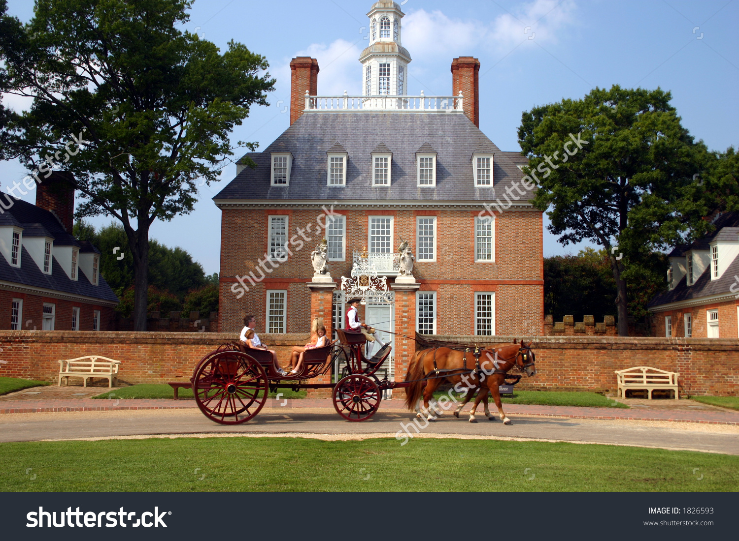 Governors Mansion Colonial Williamsburg Stock Photo 1826593.