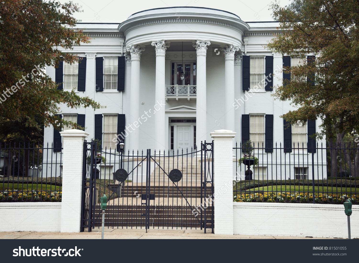 Governor'S Mansion In Jackson, Mississippi. National Historic.