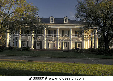 Stock Photograph of Baton Rouge, Louisiana, LA, Governor's Mansion.