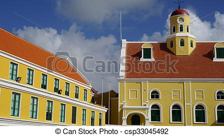 Stock Photographs of Governor's Palace in Curacao.