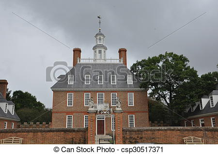 Picture of Governor's Palace in Williamsburg, Virginia csp30517371.