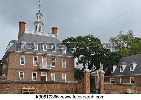 Stock Images of Governor's Palace in Williamsburg k30517366.